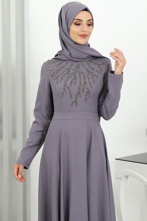 Gri Hilal Abiye - SUR16269 - Thumbnail
