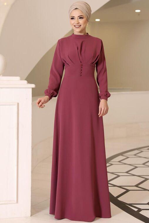 Dress Life - Gül Kurusu Ahsen Elbise - DL15802