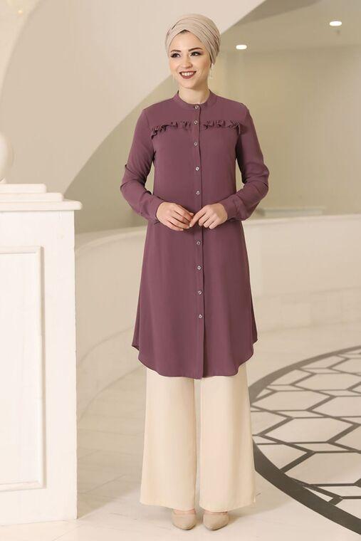 Dress Life - Gül kurusu Akasya Tunik - DL16190