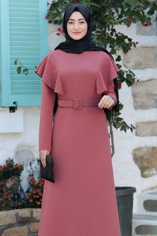 Gül Kurusu Damla Elbise - RS15783