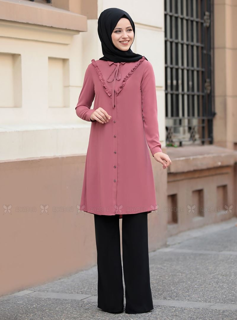 Dress Life - Gül Kurusu Ebrar Tunik - DL14313