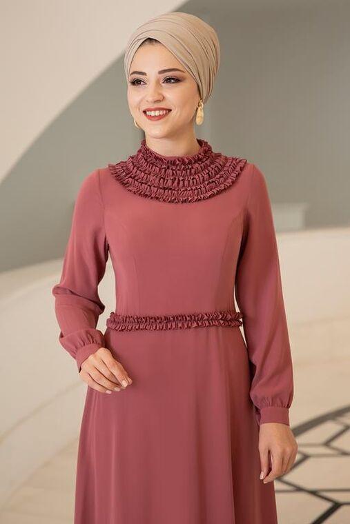 Gül Kurusu Eslem Elbise - DL15685