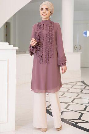Dress Life - Gül Kurusu Eylül Tunik - DL15712