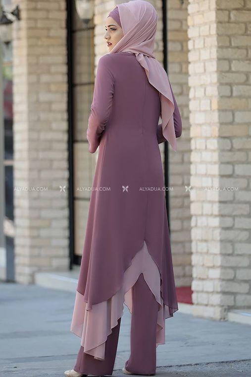 Piennar - Gül Kurusu Havin Tunik Pantolon Takım - PR12161 (1)