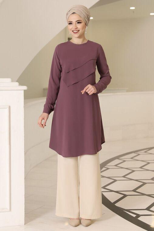 Dress Life - Gül Kurusu İkra Tunik - DL16168
