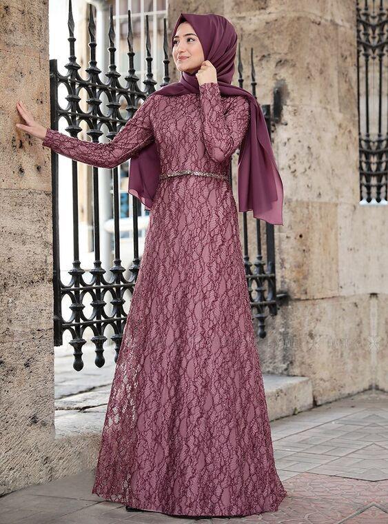Rabeysa - Gül Kurusu İpek Elbise - RS15020