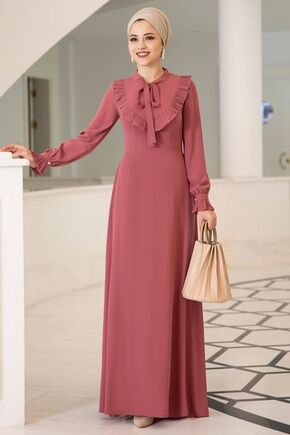 Dress Life - Gül Kurusu Irmak Elbise - DL15675