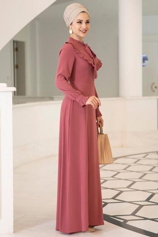 Gül Kurusu Irmak Elbise - DL15675