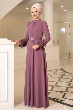 Dress Life - Gül Kurusu Lina Elbise - DL16115