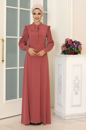 Dress Life - Gül Kurusu Merve Elbise - DL16497