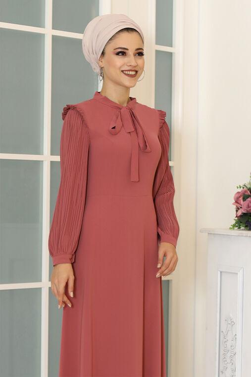 Gül Kurusu Merve Elbise - DL16497
