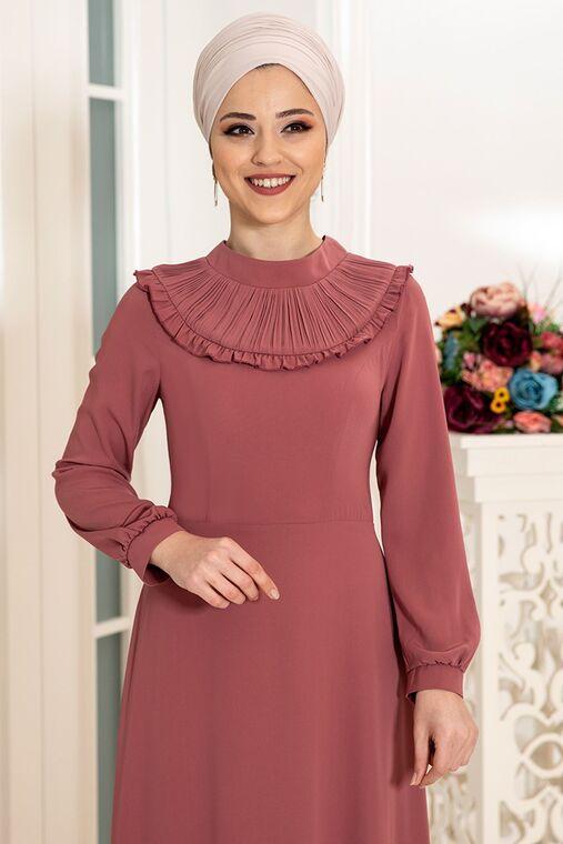 Gül Kurusu Selin Elbise - DL16167