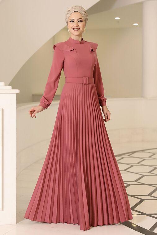 Dress Life - Gül Kurusu Serra Elbise - DL16176