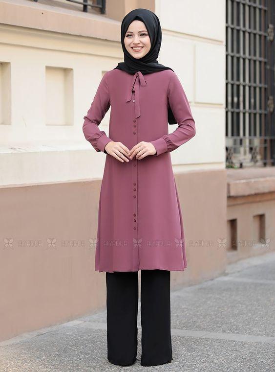 Dress Life - Gül Kurusu Tual Tunik - DL14462