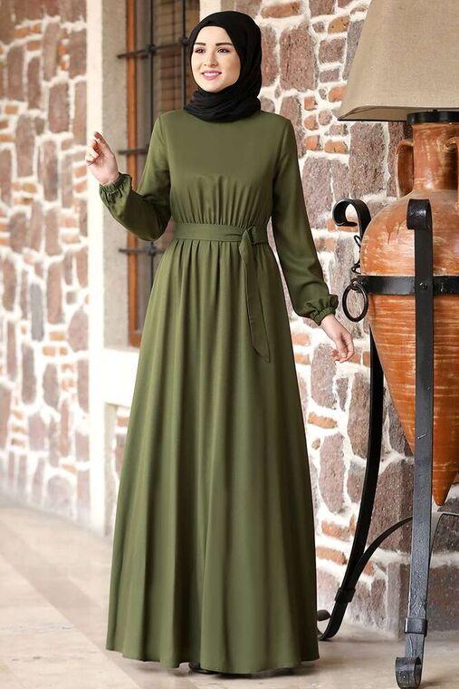 Haki Ceren Elbise - RZ15826