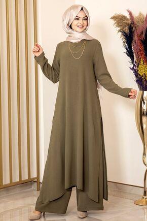 Fashion Showcase - Haki Ece İkili Takım - FS15986