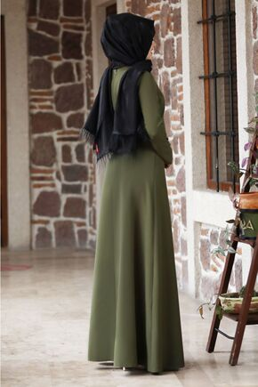 Haki Eylül Elbise - NM15789 - Thumbnail