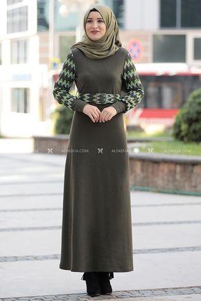 Rana Zenn - Haki Minel Elbise - RZ14191