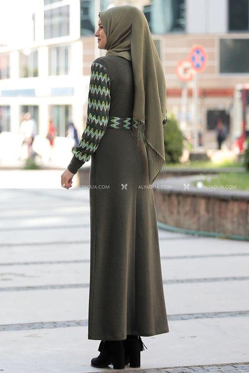 Haki Minel Elbise - RZ14191