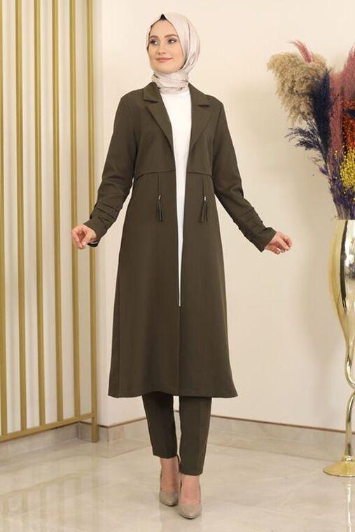 Fashion Showcase - Haki Nervürlü İkili Takım - FS16332