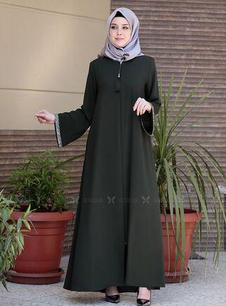 Emsale - Haki Nur Elbise - ES15147