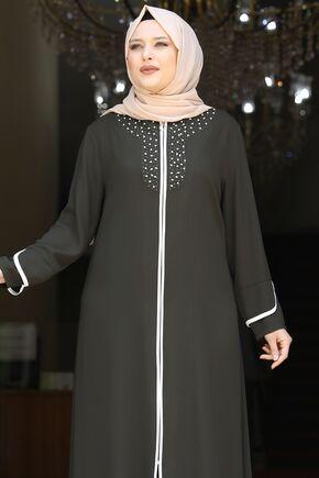 Haki Osmanlı Ferace - AMH16238 - Thumbnail