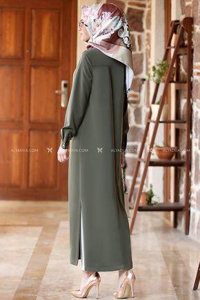 Modavitrini - Haki Uzun Tunik - AD13206 (1)