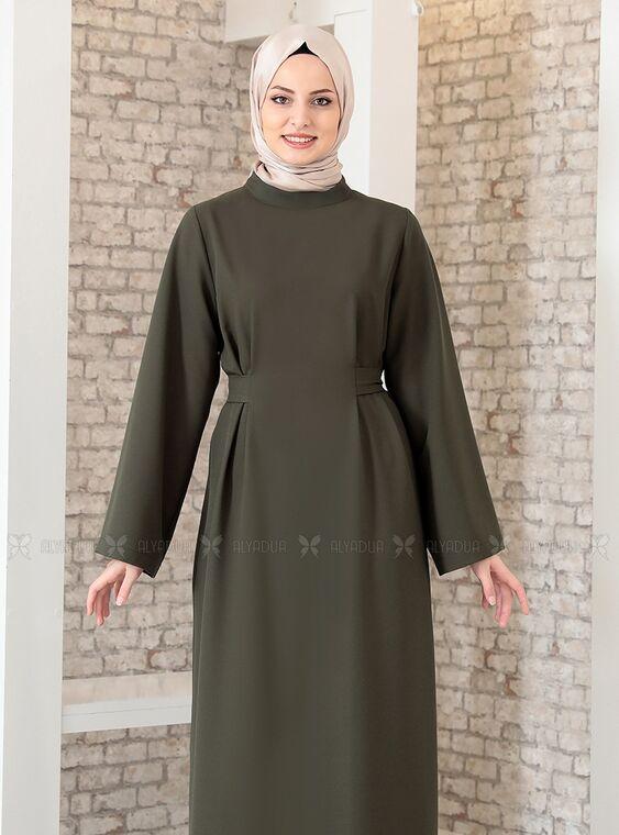 Haki Yonca Abaya Elbise - FS15209