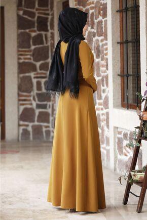 Hardal Eylül Elbise - NM15794 - Thumbnail