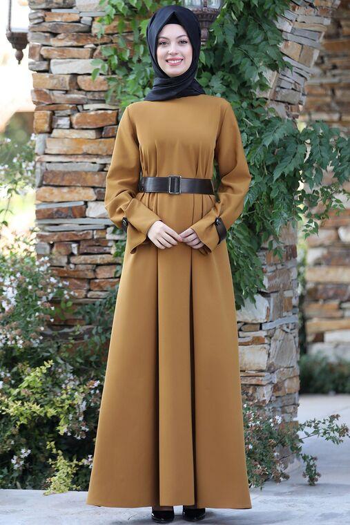 Semra Aydın - Hardal Naz Elbise - SA15597