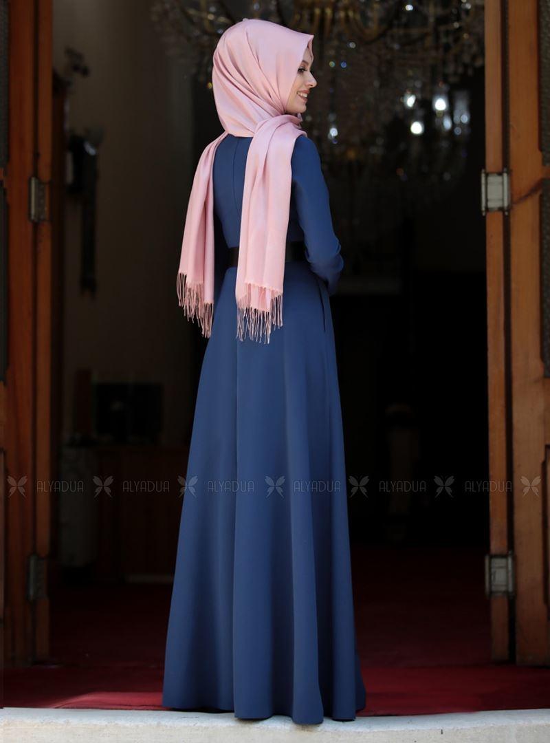 İndigo Ada İncili Elbise - SA142561