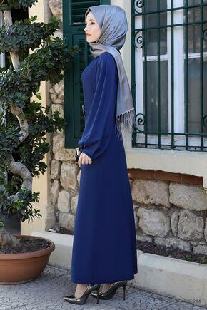 İndigo Aycan Elbise - ES15880 - Thumbnail
