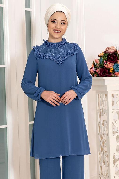 Dress Life - İndigo Burçak İkili Takım - DL16122