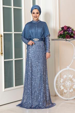 Dress Life - İndigo Deren Abiye - DL16318