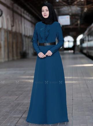 Sefanisa - İndigo Ela Elbise - SFN15013