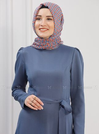 İndigo Hazal Elbise - PN15294 - Thumbnail