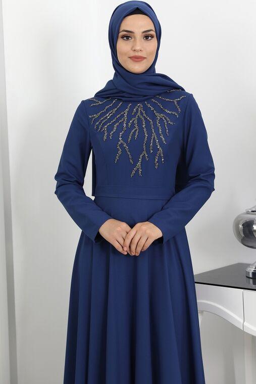 İndigo Hilal Abiye - SUR16271