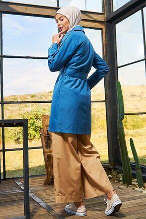 İndigo Karmen Trençkot - SRK15651 - Thumbnail