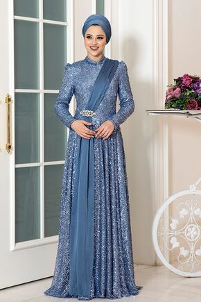 Dress Life - İndigo Miray Abiye - DL16323