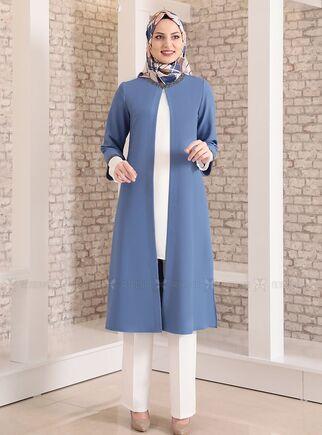 Fashion Showcase - İndigo Taş Detay Üçlü Takım - FS15027