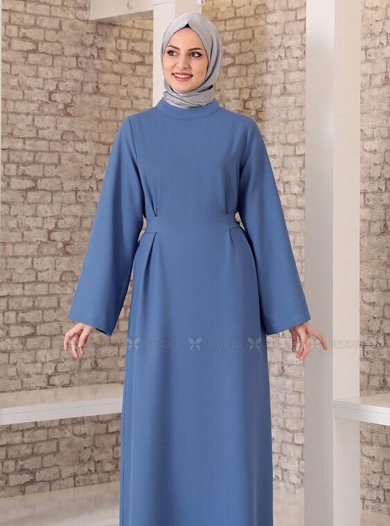 İndigo Yonca Abaya Elbise - FS15210