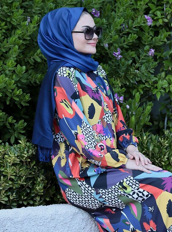 İpek Elbise - ST15107