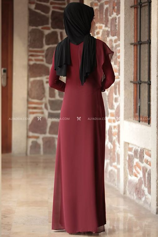 - Jumpsuit - Chained - Maroon - RZ12871 (1)