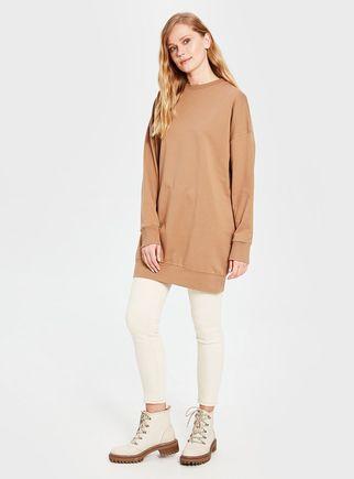 Alyadua - Kahve - Düz Basic Sweatshirt - ADC14823