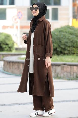 Kahverengi Eflin İkili Takım - RZ14196 - Thumbnail