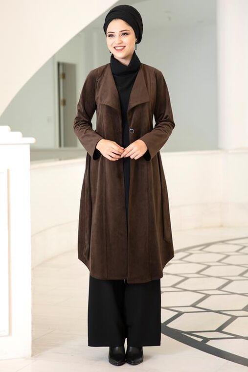 Dress Life - Kahverengi Hare Ceket - DL15690