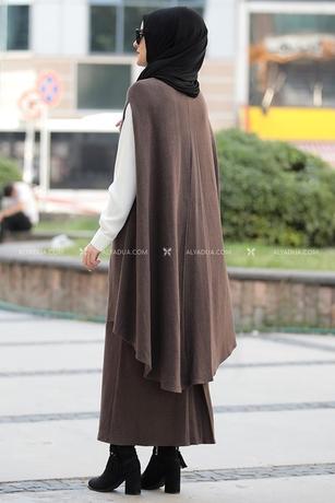 Kahverengi Nilüfer Triko İkili Takım - RZ14211 - Thumbnail