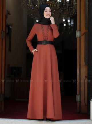 Semra Aydın - Kiremit Ada İncili Elbise - SA14259