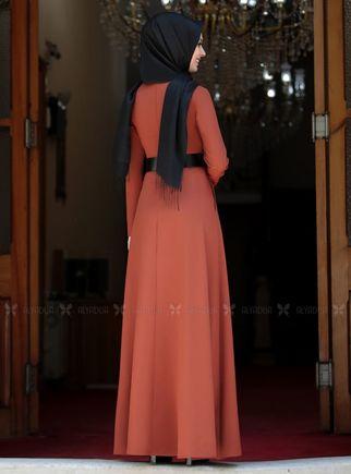 Kiremit Ada İncili Elbise - SA14259 - Thumbnail