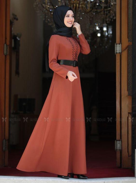 Kiremit Ada İncili Elbise - SA14259